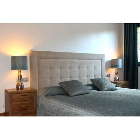 Cabecero de cama tapizado tapizado modelo 101 - Cabezales de tela ...