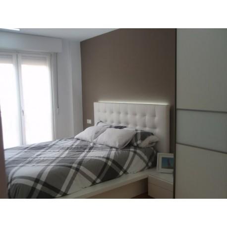 Cabecero de cama tapizado tapizado modelo 129 - Cabeceros de cama manuales ...